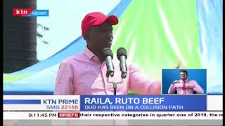 Ruto hits back at Raila, vows to ensure he does not succeed