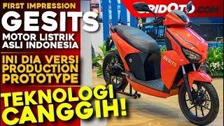 Ini Dia GESITS, Motor Listrik Buatan Indonesia yang Langsung Dicoba oleh Jokowi