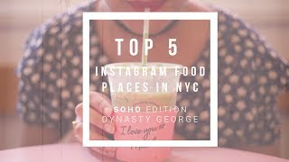 Top 5 Instagram Food Places NYC - Soho Edition - Video Youtube