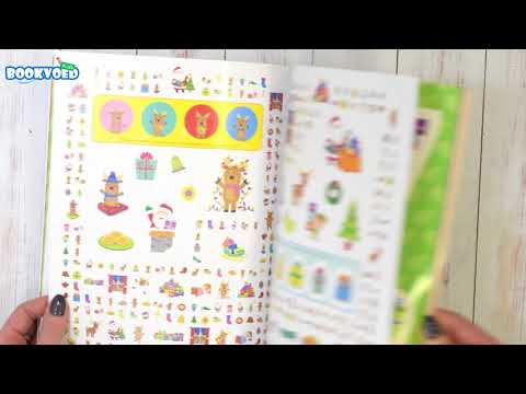 Видео обзор My Giant Christmas Sticker Book - over 1000 festive stickers