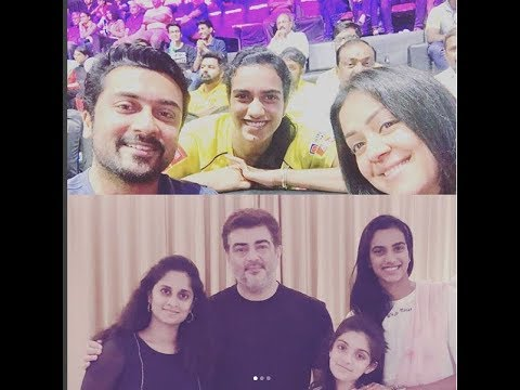 Jyothika Suriya with Family Video | childrens with P  V  Sindhu