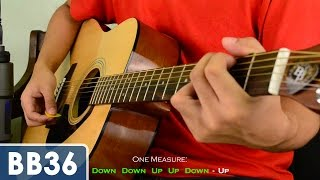 2 Basic Strumming Patterns (4/4 time signature) Beginner