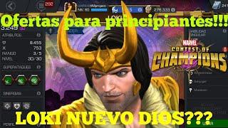 Loki nuevo DIOS? Ofertas principiantes!!! Marvel batalla de super heroes!!!