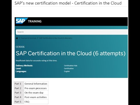 SAP's new certification process - 'SAP Certification in the Cloud ...