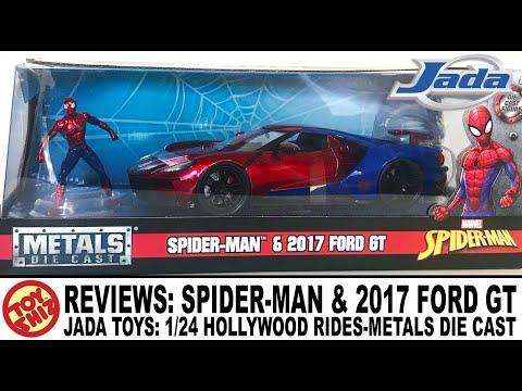 Toy Shiz Reviews Jada Toys   Spider Man  Ford Gt Metals Cast Toy Shiz Video Dangdutan Me