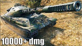 Объект 705А РЕАЛЬНЫЙ бой МЕСИВО 🌟 10000 dmg 🌟 World of Tanks лучший бой на новом тт 10 уровня