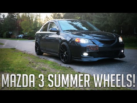 PUTTING ON THE MAZDA 3 SUMMER WHEELS!