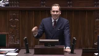 Konrad Berkowicz (Konfederacja) o podatku od spadków i darowizn | Sejm (13.02.2020)