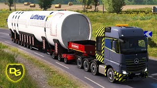 Flugzeug-Transport - Euro Truck Simulator 2 Schwerlast #10 - Daniel Gaming - Deutsch
