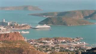 preview picture of video 'Arribo y Partida del Crucero Ryndam del Puerto de Guaymas.'