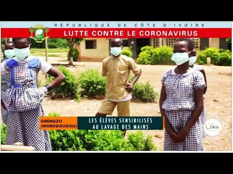 LUTTE CONTRE LE CORONAVIRUS : GBEMAZO (WORODOUGOU), LES ELEVES SENSIBILISES AU LAVAGE DES MAINS