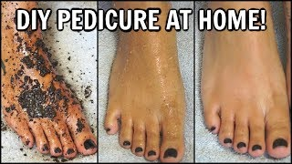 HOW TO DO A PEDICURE AT HOME │2 DIY FOOT SCRUBS FOR SMOOTH SOFT FEET, EXFOLIATE & WHITEN, REMOVE TAN