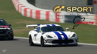 GT Sport - Manufacturers Cup S18 Race 2 - Nurburgring GP