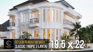 Video Desain Rumah Classic 3 Lantai Ibu Icha di  Tangerang, Banten