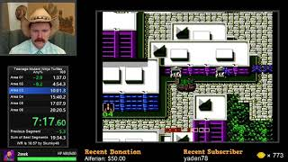 Teenage Mutant Ninja Turtles NES speedrun in 19:59 by Arcus