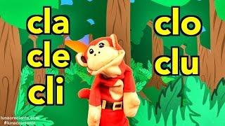 Silabas cla cle cli clo clu - El Mono Sílabo - Videos Infantiles - Educación para Niños #