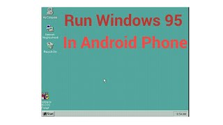 Windows 98 on Android using limbo pc emulator - TH-Clip