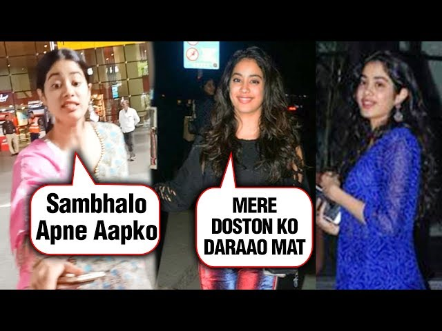 Janhvi Kapoor Gets Scared As A Photographer Was About to Fall | Best Moments of Janhvi With Media