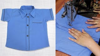 Baby Boy Shirt Cutting And Stitching Step By Step || Baby Boy Dress Shirt