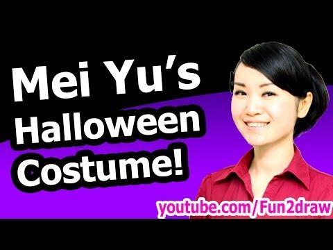 Mei Yu's Halloween Costume + How to Draw Tutorial