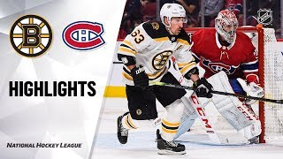 NHL Highlights   Bruins @ Canadiens 11/26/19
