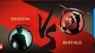 Shadow Fight 2 Gameplay | Shadow Vs Buffalo Bodyguard | Brutal Fight HD