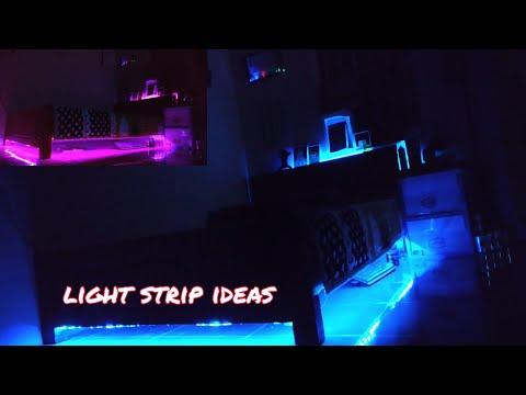 Hướng dẫn trang trí góc phòng ngủ bằng đèn Led RGB cực đẹp/ www.dientuasia.com