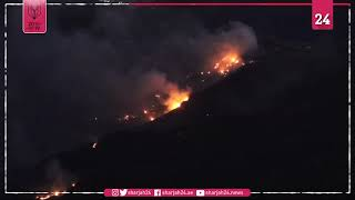 تباطؤ حريق جزيرة كناريا الإسبانية مع تراجع سرعة الرياح