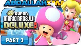 New Super Mario Bros U Deluxe - Sparkling Waters 100% Walkthrough Part 3 (Nintendo Switch)