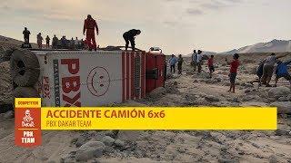 Rally Dakar 2019 - Accidente camión 6x6 -  Palibex - Transporte Urgente