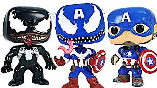 Unbelievable! Captain America turn into Venomized Captain America! | DuDuPopTOY