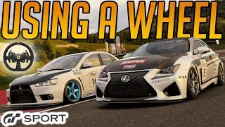 Gran Turismo Sport: Using a Wheel for the First Time