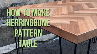 DIY | Cara Membuat Meja Herringbone Pattern #herringbonetable #herringbonepattern
