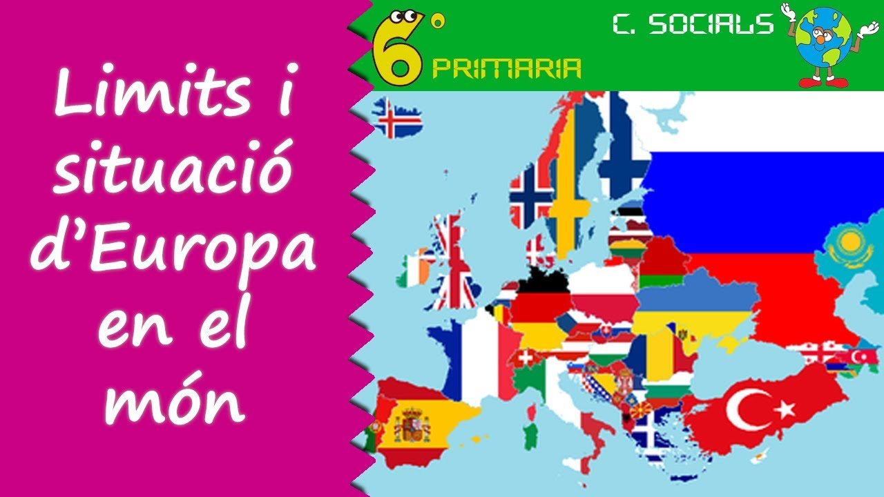 Límits i situació d'Europa en el món. Socials, 6é Primària