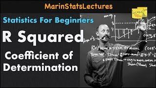R Squared or Coefficient of Determination   Statistics Tutorial   MarinStatsLectures