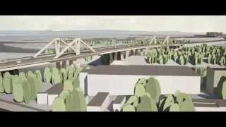 Визуализация проекта Фрунзенского моста в Самаре