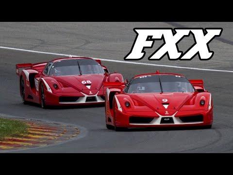 5x Ferrari Fxx Evo Screaming Around Spa