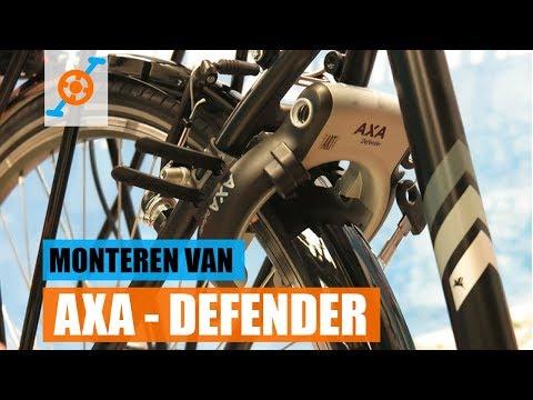 Hoe een ringslot aan het frame monteren | AXA - Defender