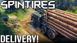 SPINTIRES - DELIVERY! (Volcano Map In Spin Tires)