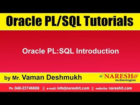 Oracle PL:SQL Introduction   by Mr.Vaman Deshmukh - YouTube