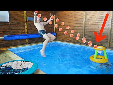 The most epic swimming pool trickshots ever senacampbel4 - Awesome swimming pool trick shots ...