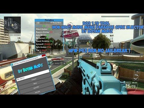 HFW] PS3 HEN Bo2 1 19 Tool Paradise Non Host Mode Menu SPRX