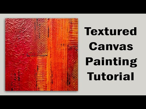 textured abstract painting tutorial using modelling paste