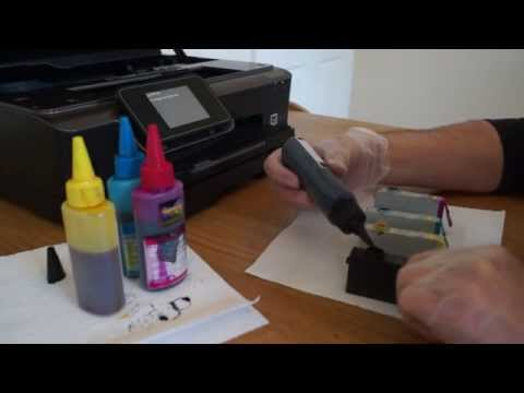 How to refill HP 364 cartridges - fast and easy method