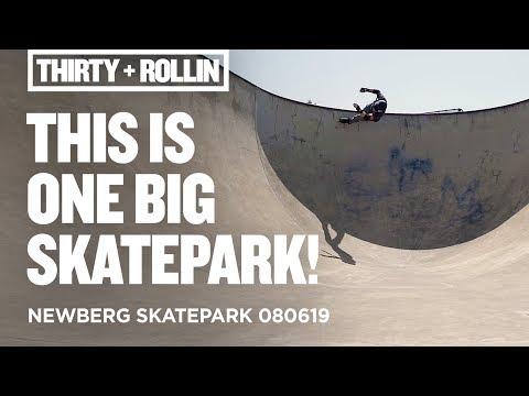 This is one big skatepark! | Newberg Skatepark 080619 | Aggressive Inline Skating
