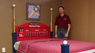 Phillies Baseball Bed