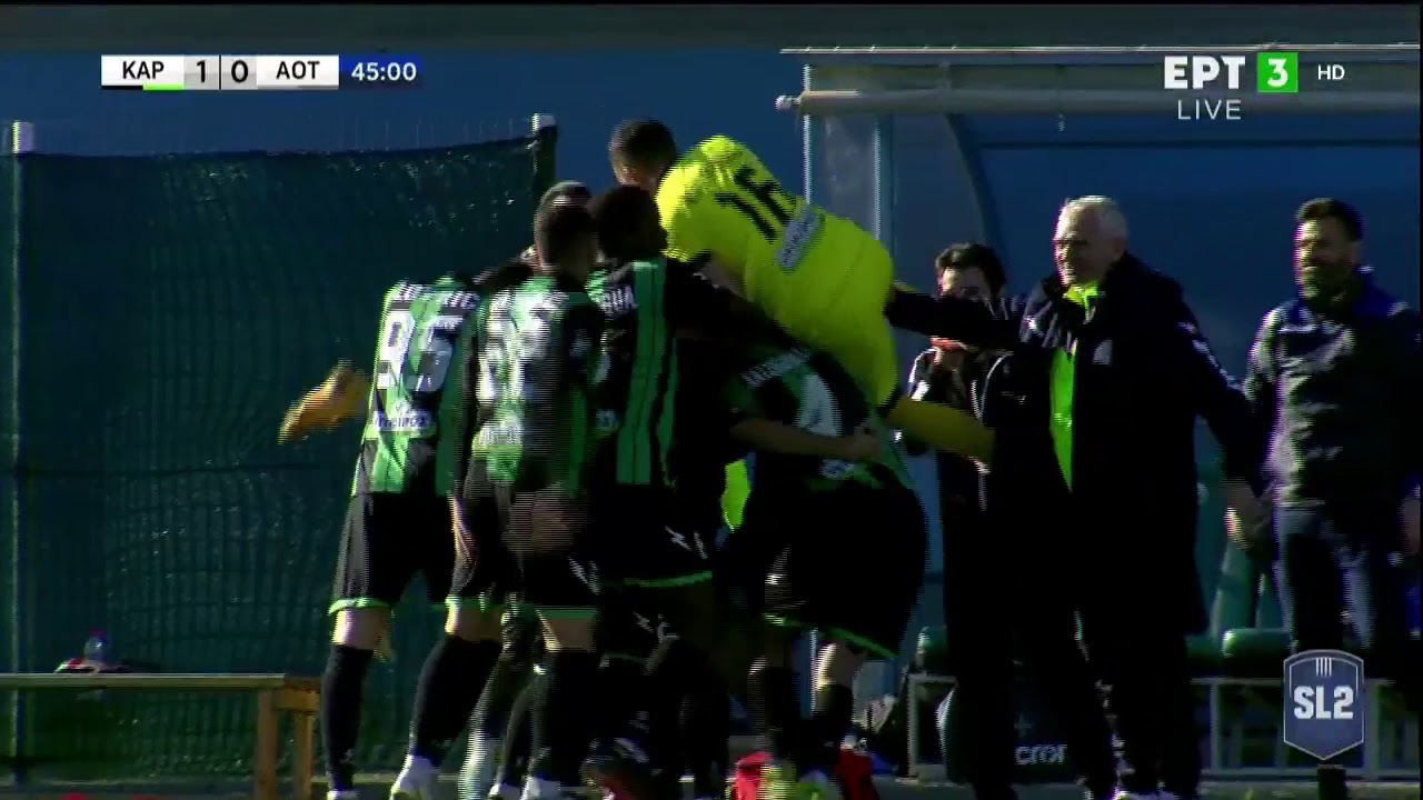 Super League 2 | Καραϊσκάκης – Τρίκαλα: Ο Γιαννιώτης το 1-0 με κεφαλιά | 17/02/21 | ΕΡΤ