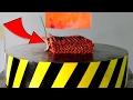 EXPERIMENT Glowing 1000 degree HYDRAULIC PRESS 100 TON vs 100 FIRECRACKERS