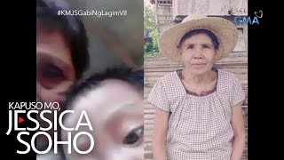 Aired (October 27, 2019): Mahilig mag-selfie ang anak ni Teresa. Ngunit nang tingnan nito ang cellphone video ng kanyang anak, nagulat siya sa nahagip sa video—ang lola ng bata na tila sumisilip. Ang naturang matanda, higit isang taon na raw patay!   'Kapuso Mo, Jessica Soho' is GMA Network's highest-rating magazine show. Hosted by the country's most awarded broadcast journalist Jessica Soho, it features stories on food, urban legends, trends, and pop culture. 'KMJS' airs every Sunday, 8:40 PM on GMA Network.  Subscribe to youtube.com/gmapublicaffairs for our full episodes. #KapusoMoJessicaSoho #KMJSGabiNgLagimVII  GMA promotes healthy debate and conversation online.  Any abusive language that does not facilitate productive discourse will be blocked from this post.      GMA upholds ethical standards of fairness, objectivity, accuracy, transparency, balance, and independence.   Walang Kinikilingan, Walang Pinoprotektahan, Serbisyong totoo lamang.   Subscribe to the GMA Public Affairs channel: https://www.youtube.com/user/gmapublicaffairs  Visit the GMA News and Public Affairs Portal: http://www.gmanews.tv  Connect with us on: Facebook: http://www.facebook.com/gmapublicaffairs/ Twitter: http://www.twitter.com/gma_pa
