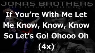 *NEW SONG* Jonas Brothers - Lets Go! (Live HD W/ Lyrics On Screen)